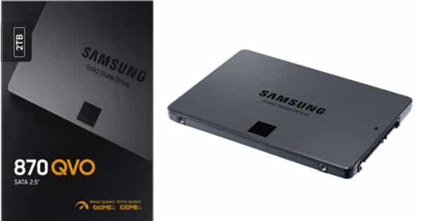 Disco SSD Samsung QVO 870 de 2TB barato. Ofertas en discos SSD, discos SSD baratos, chollo