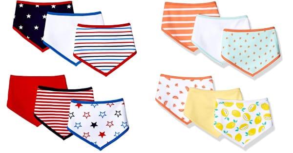 Juego de 6 baberos para bebé Amazon Essentials baratos, baberos baratos, ofertas en ropa para bebés, chollo