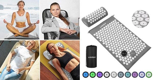 Kit de acupresión Lixada, esterillas de masaje baratas, ofertas salud, CHOLLO