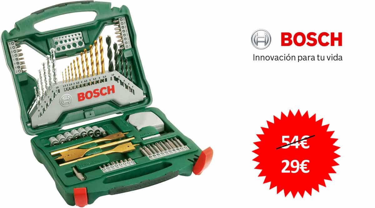 Maletín Bosch X-Line de 70 piezas barato, ofertas en herramientas, herramientas baratas, chollo