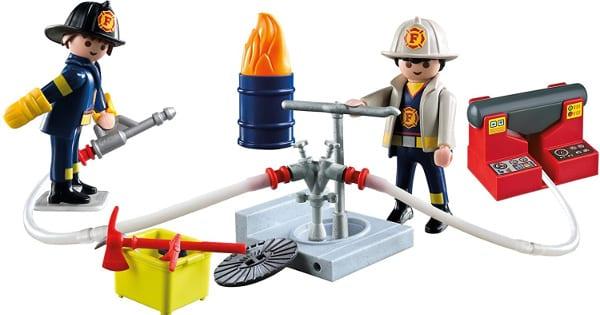 Maletín grande de bomberos Playmobil barato, juguetes baratos, ofertas para niños chollo