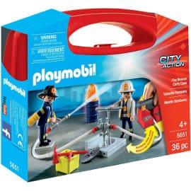 Maletín grande de bomberos Playmobil barato, juguetes baratos, ofertas para niños