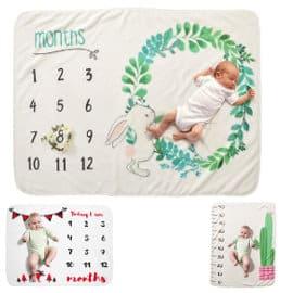 Manta para bebé Decdeal de franela para usar como fondo en fotografías barata, decorados para foto de bebé baratos, ofertas para niños