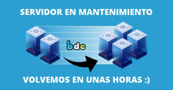 Mantenimiento programado del blog, chollo