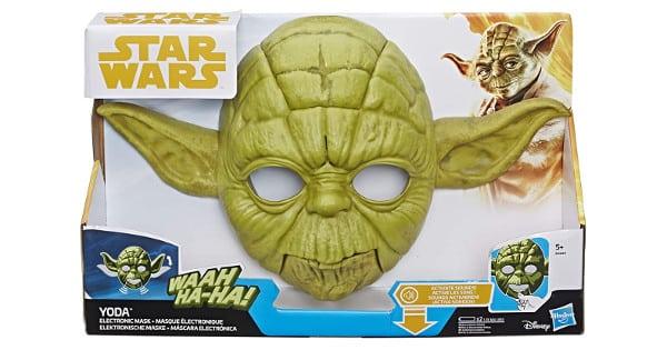 Máscara electrónica Star Wars Yoda barata, juguetes baratos, chollo
