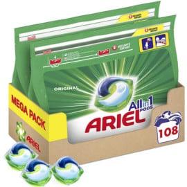 Pack de 108 cápsulas Ariel barato. Ofertas en supermercado