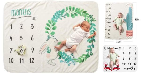 Manta para bebé Decdeal de franela para usar como fondo en fotografías