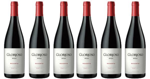 Pack de 6 vino Rioja Glorioso Reserva 2016 barato. Ofertas en vino, vino barato, chollo