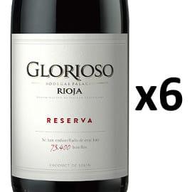 Pack de 6 vino Rioja Glorioso Reserva 2016 barato. Ofertas en vino, vino barato