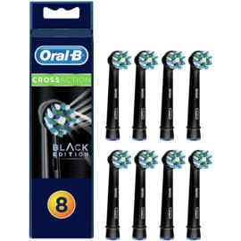 Pack de 8 recambios Oral-B Cross Action Black Edition baratos. Ofertas en recambios Oral-B, recambios Oral-B baratos