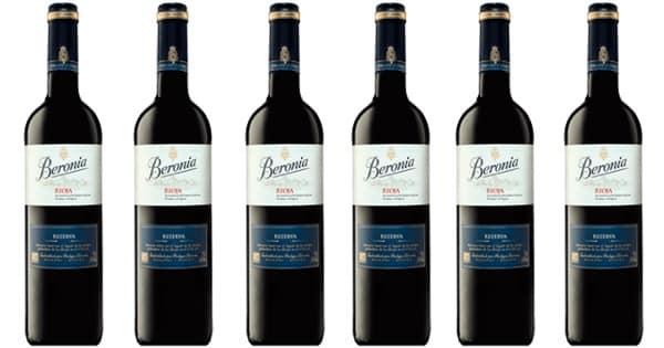 Pack vino tinto Rioja Beronia Reserva 2015 barato. Ofertas en vino, vino barato, chollo
