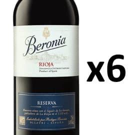 Pack vino tinto Rioja Beronia Reserva 2015 barato. Ofertas en vino, vino barato
