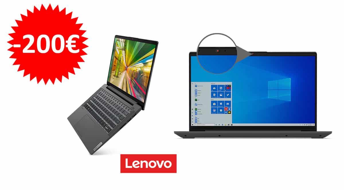 ¡Código descuento exclusivo! Portátil Lenovo Ideapad 5 14″ Ryzen 7 4700U/16GB/512GB SSD sólo 649 euros. Ahórrate 200 euros.