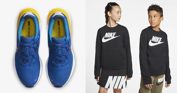 Prendas Nike para niños baratas, ropa de marca barata, ofertas en calzado chollo