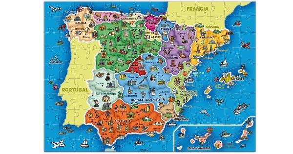 Puzzle de Provincias y Autonomías de España Diset barato, juguetes baratos, ofertas para niños, chollo