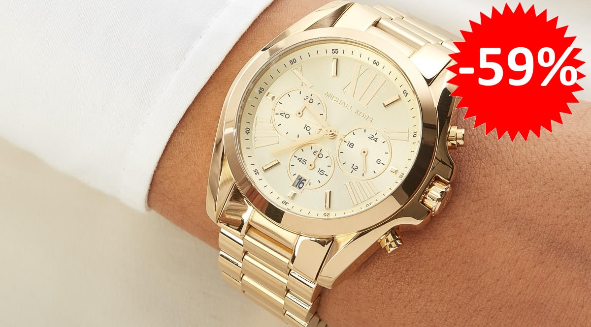 Reloj Michael Kors Bradshaw barato, relojes de marca baratos, ofertas en joyería, chollo