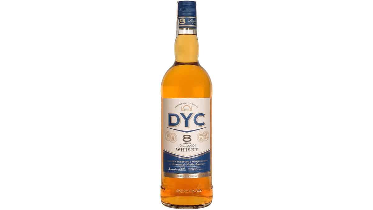 Whisky DYC 8 años de 1 litro barato, whisky barato, chollo