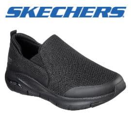 Zapatillas sin cordones Skechers Arch Fit baratas, zapatillas de marca baratas, ofertas calzado
