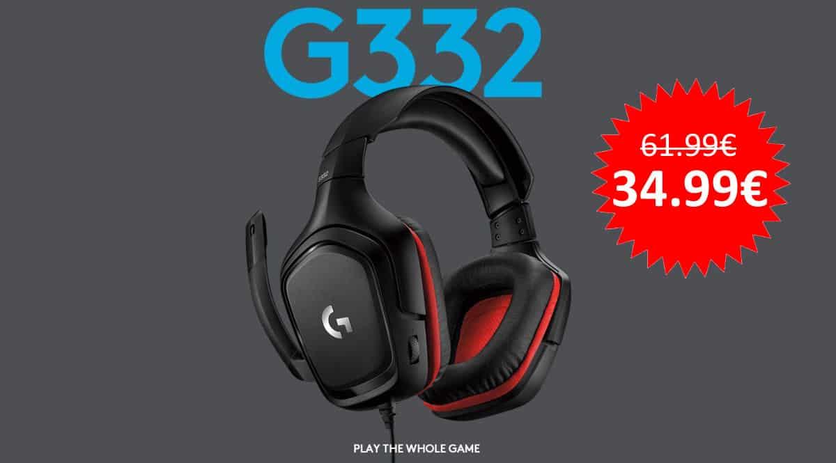 ¡¡Chollo!! Auriculares gaming Logitech G332 sólo 34.99 euros.