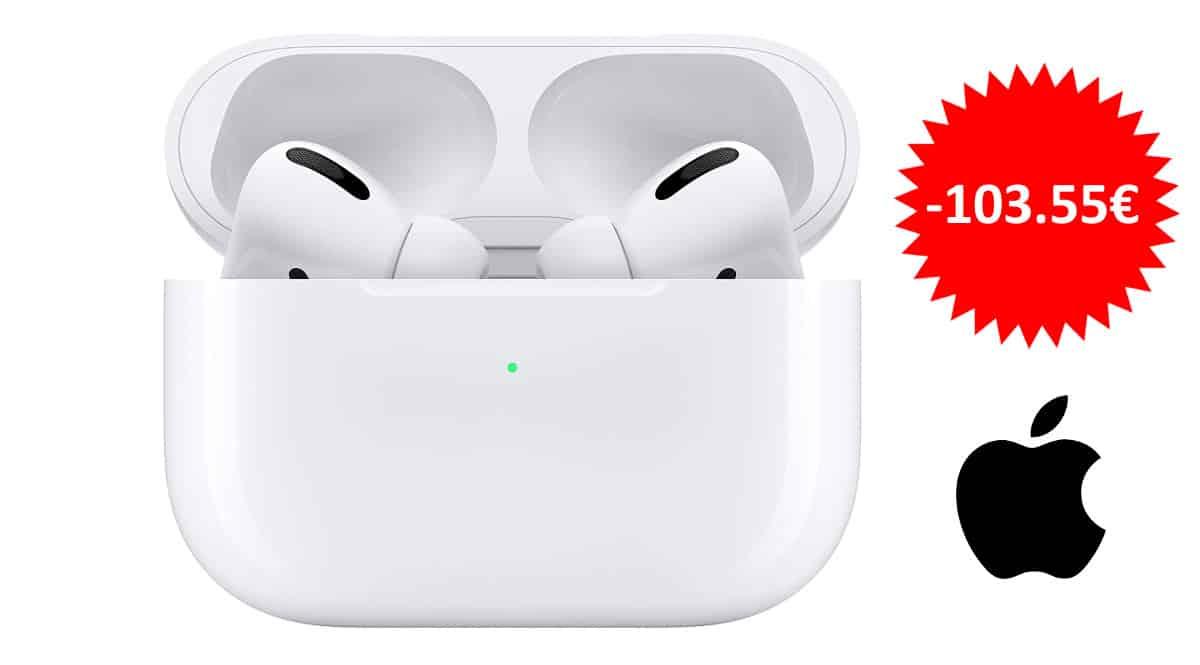 ¡Código descuento! Auriculares inalámbricos Apple AirPods Pro sólo 175 euros. Ahórrate 103 euros.
