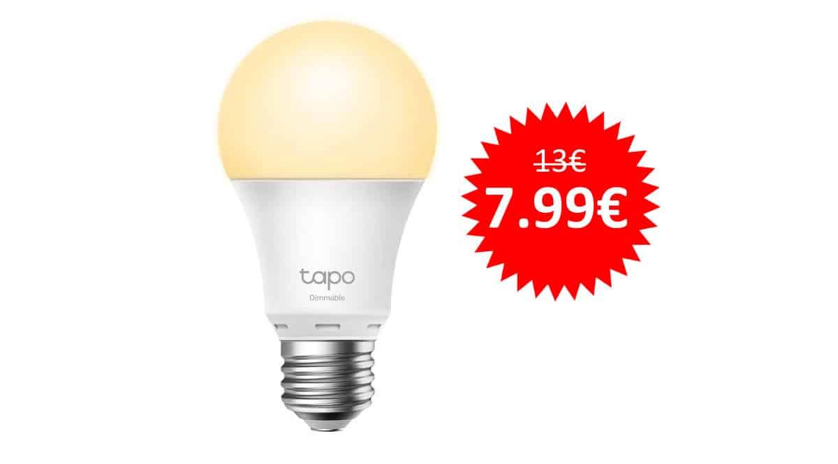 ¡Precio mínimo histórico! Bombilla inteligente WiFi TP-Link Tapo L510E sólo 7.99 euros.