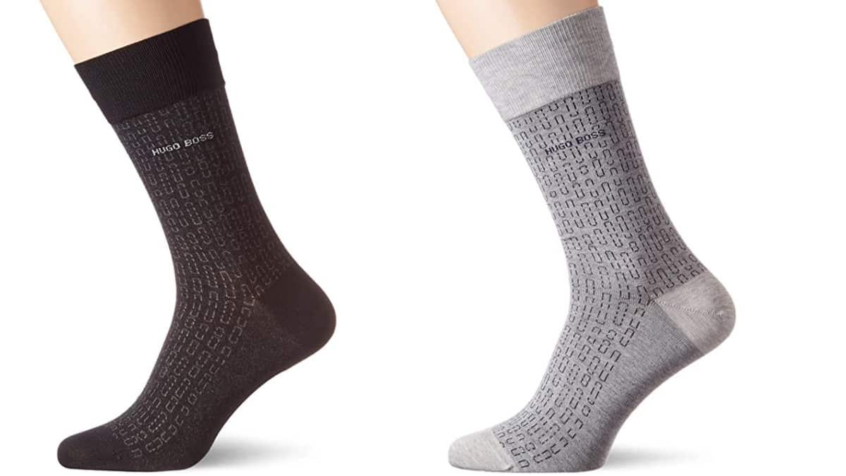 Calcetines para hombre Boss Minipattern baratos, ropa interior barata, ofertas en ropa de marca, chollo