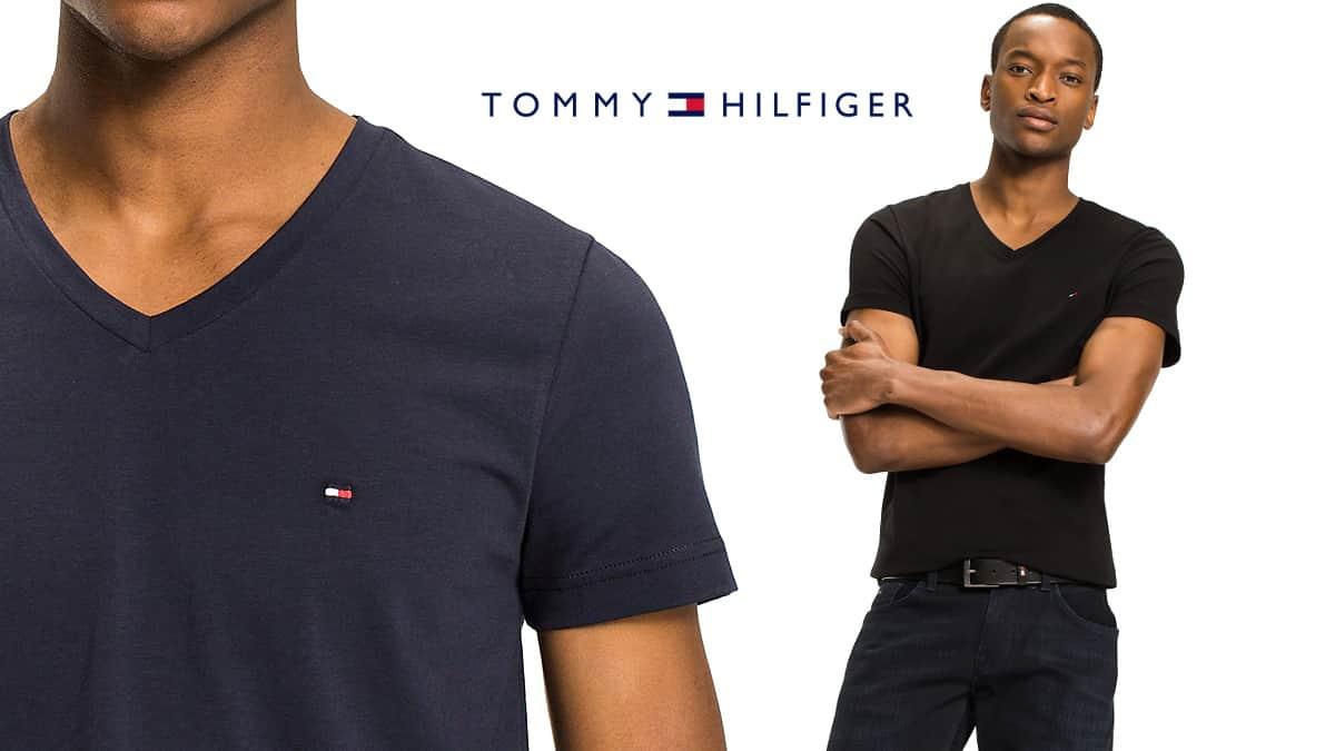Camiseta básica Tommy Hilfiger barata, ropa de marca barata, ofertas en camisetas chollo