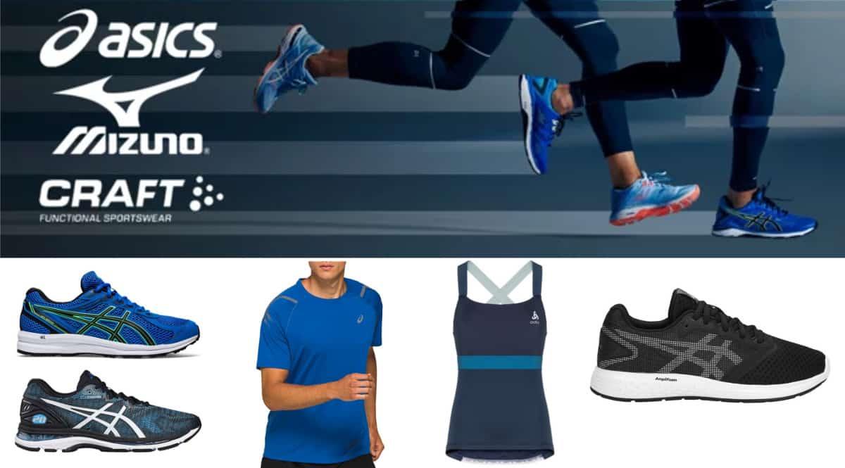 Campaña de Asics, Mizuno, Craft en Private Sport Shop. Ofertas en ropa y calzado deportivo, ropa y calzado deportivo barato, chollo