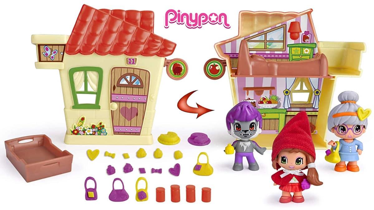 Casa de Caperucita con figuras y accesorios de Pinypon barata, juguetes baratos, ofertas para niños, chollo