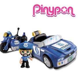 Coche de policía Pinypon Action vehículos de acción barato, juguetes baratos, ofertas para niños