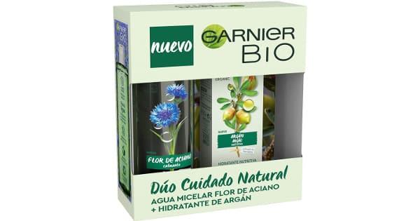 Cofre Rutina Garnier Bio con crema hidratante y agua micelar barato, cremas baratas, ofertas belleza, chollo