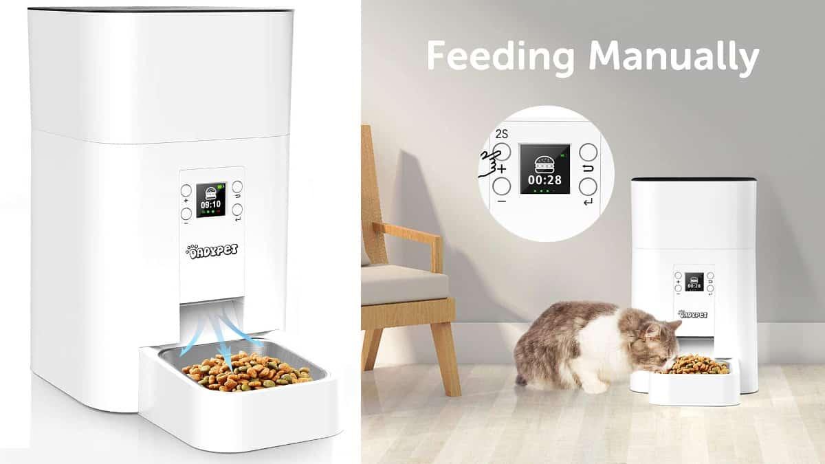 Comedero automático para gatos Dadypet barato, comederos baratos, chollo