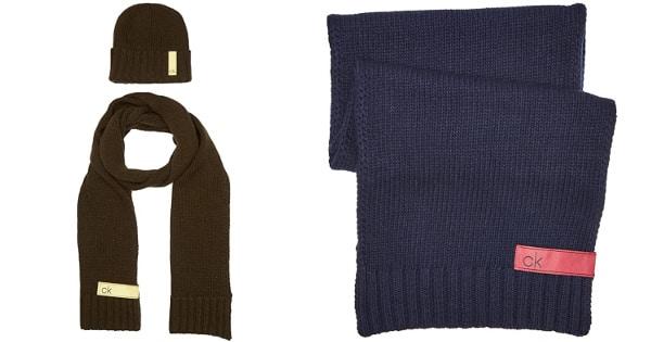 Conjunto de gorro y bufanda Calvin Klein barato, ropa de marca barata, ofertas en accesorios chollo