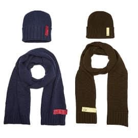Conjunto de gorro y bufanda Calvin Klein barato, ropa de marca barata, ofertas en accesorios