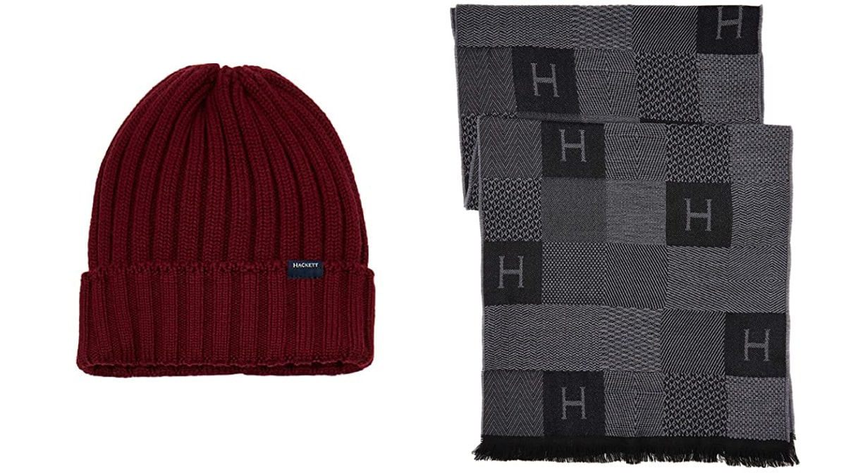 Conjunto de gorro y bufanda Hackett London barato, ropa de marca barata, ofertas en complementos chollo