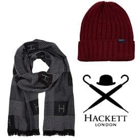Conjunto de gorro y bufanda Hackett London barato, ropa de marca barata, ofertas en complementos