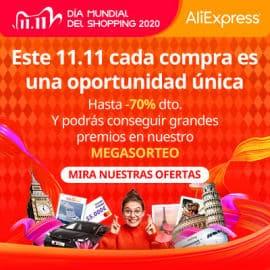 Día mundial del Shopping en AliExpress, Día del Soltero AliExpress, 11 del 11 AliExpress