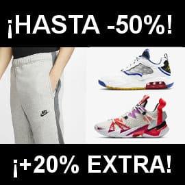 Descuento EXTRA ofertas Nike barato, ropa de marca barata, ofertas en zapatillas deportivas