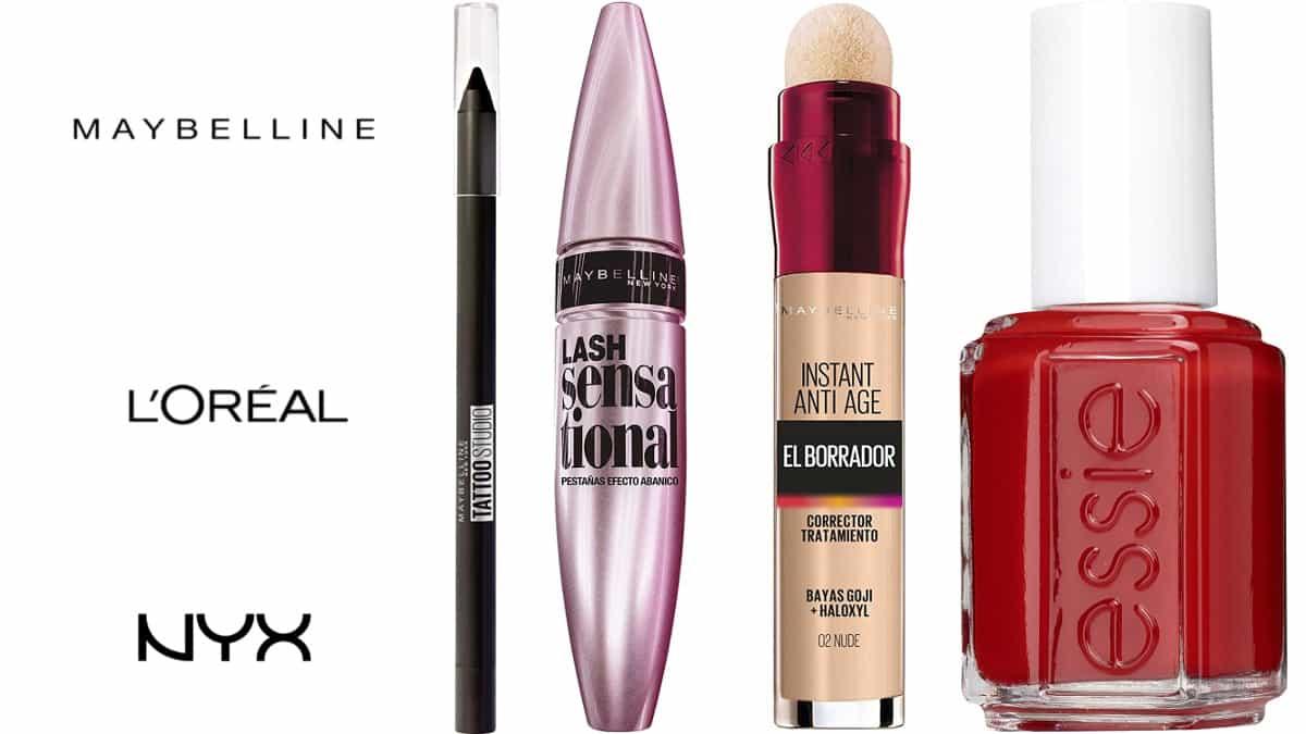 Descuentos en Loreal, Mybelline y Nyx, maquillaje de marca barato, ofertas belleza, chollo