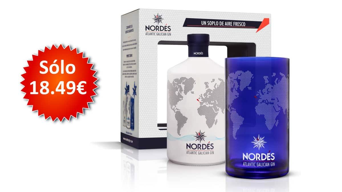 Ginebra Nordés + vaso coleccionable de regalo barata, ginebras baratas, chollo