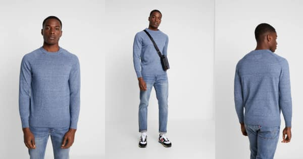 Jersey de punto Superdry Cotton Crew Vintage barato, jerséis baratos, ofertas en ropa de marca, chollo