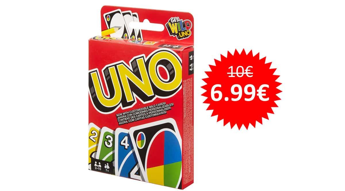 ¡¡Chollo!! Juego de cartas UNO Classic sólo 6.99 euros.