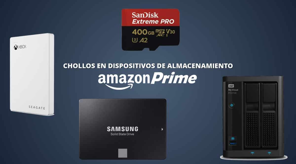 Las mejores ofertas en almacenamiento de Amazon Prime Day 2020. Ofertas en discos SSD, discos SSD baratos, tarjetas de memoria baratas, discos duros baratos, chollo