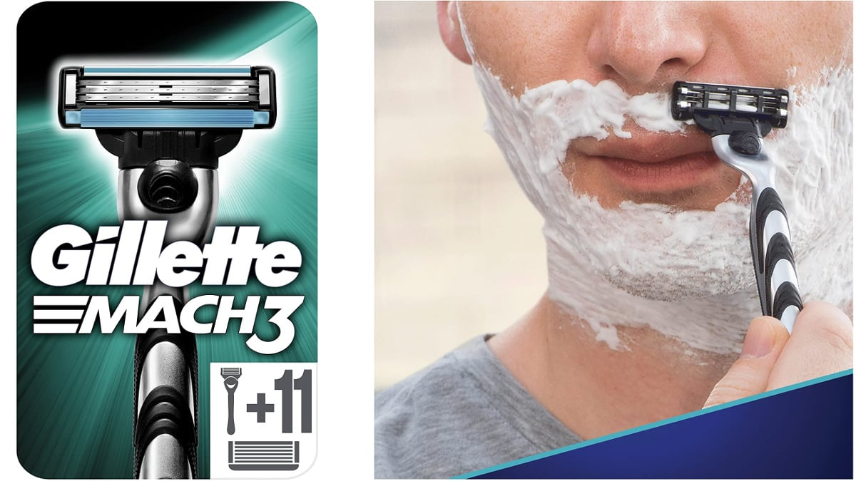 Maq1uinilla Gillette Mach3 + recambios, maquinillas de afeitar baratas, ofertas supermercado, chollo