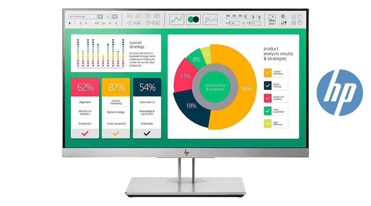 Monitor de 21.5 pulgadas HP EliteDisplay E223 barato, monitores baratos, chollo