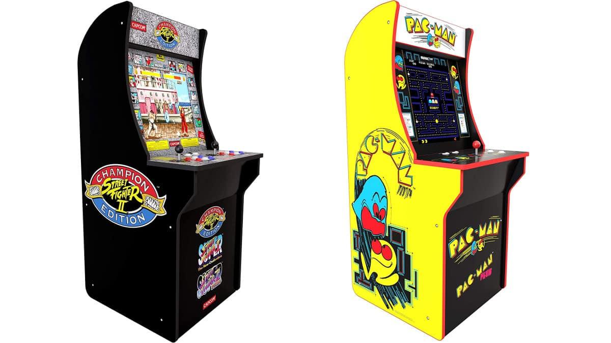 Máquinas recreativas retro Arcade 1UP Pac-Man y Street Fighter 2 baratas, consolas baratas, chollo