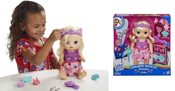 Muñeca Baby Alive Daniela peinados mágicos barata, juguetes baratos, ofertas para niños chollo