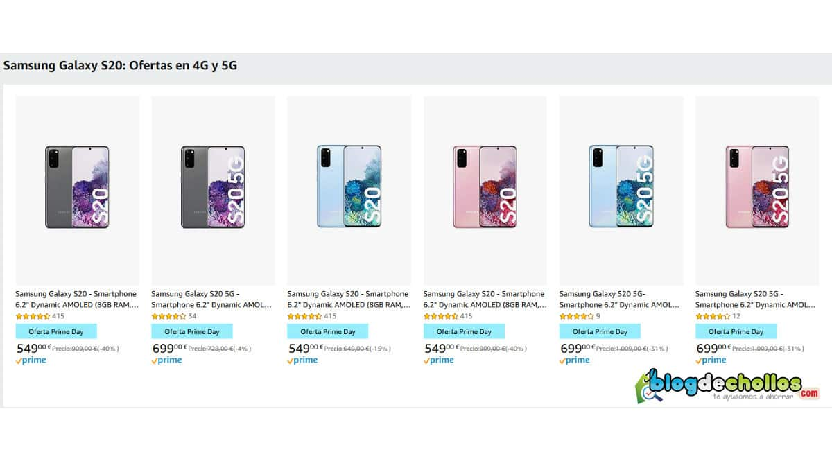 Móvil Samsung Galaxy S20 barato, móviles baratos, chollo