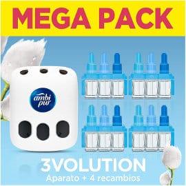 Pack con ambientador eléctrico Ambi Pur 3Volution + 4 Recambios con fragancia Nubes de algodón barato, ambientadores baratos, ofertas supermercado