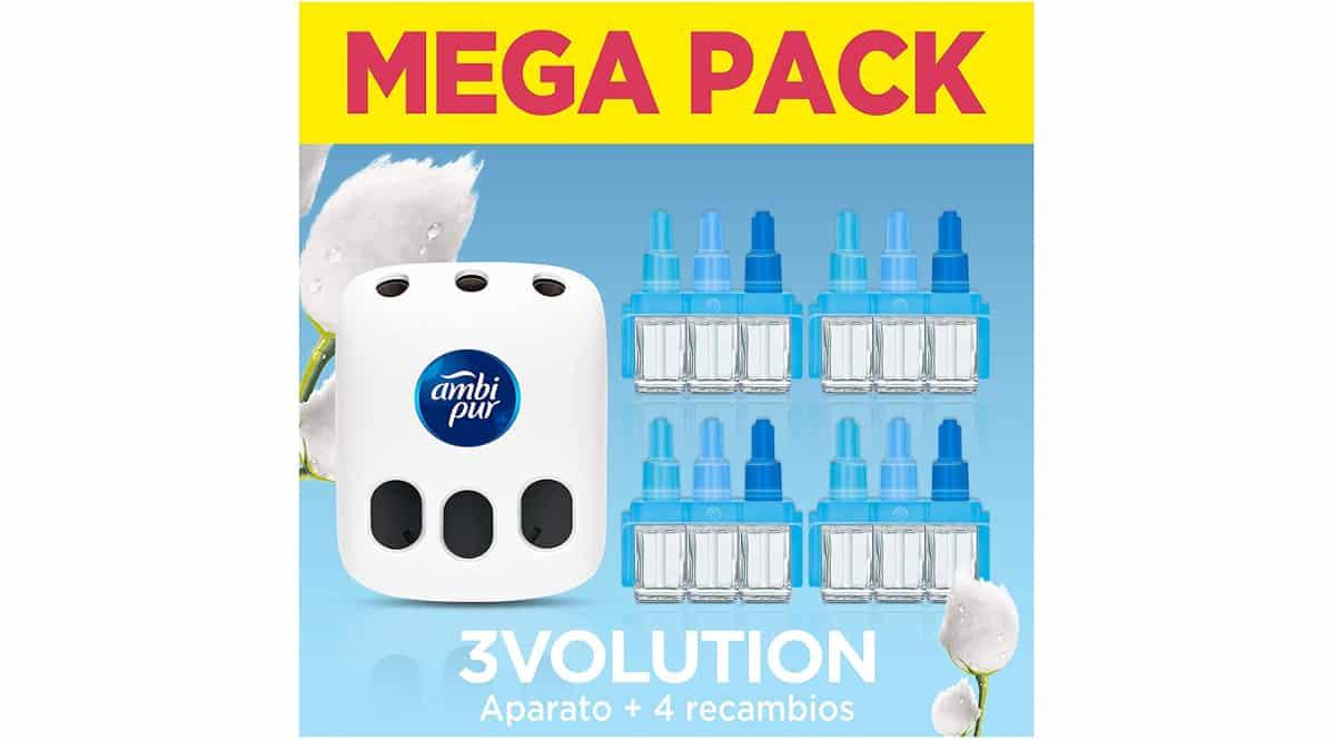 Pack con ambientador eléctrico Ambi Pur 3Volution + recambios barato, ambientadores de marca baratos, ofertas supermercado, chollo